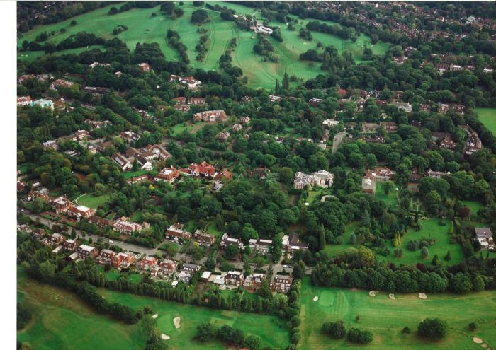 Aerial Photograph of Winnington Road and The Bishops Avenue