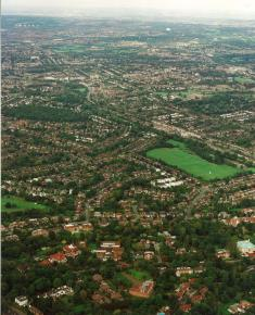 Aerial Photograph of Lyttleton Playing Fields, Norrice Lea, and Kingsley Way