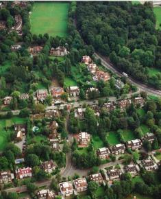 Aerial photograph, a section of Hampstead Way
