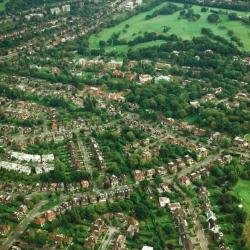 Aerial Photograph of Deans Way and Edmonds Walk