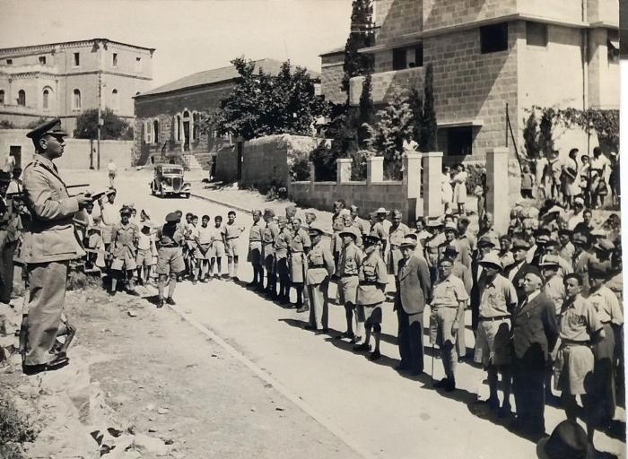 Rev Isaac Levy  parade in Jerusalem