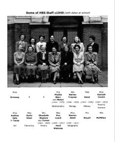 Henrietta Barnett School staff photo 1949