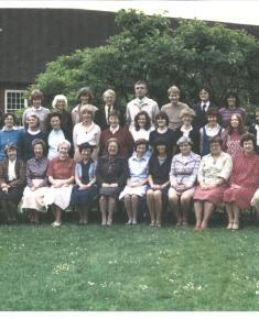 Henrietta Barnett School staff photo 1981