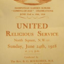 Coming of age service, 1928