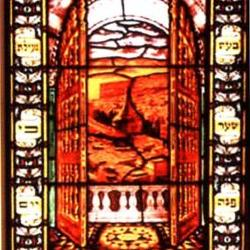 Synagogue's Stained Glass Windows
