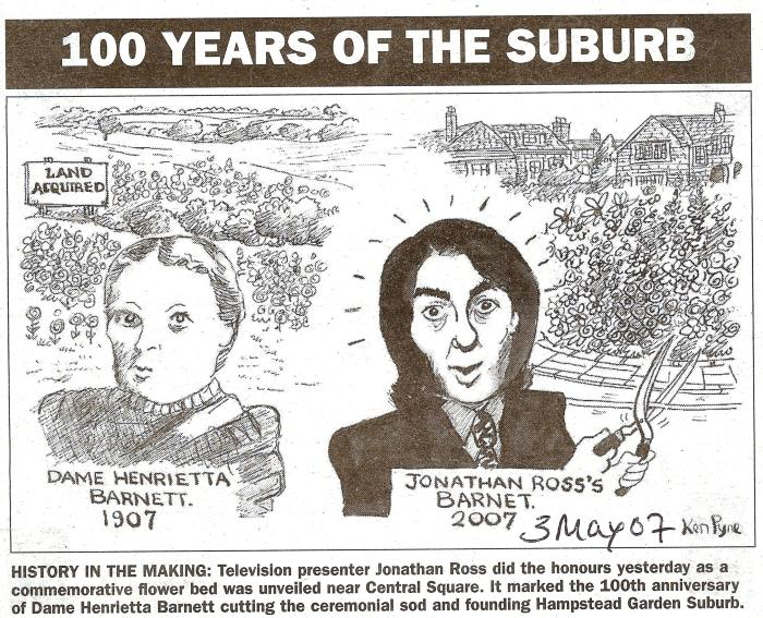 Ham and High Cartoon - Henrietta Barnett and Jonathan Ross
