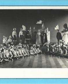 School play, labelled 1955