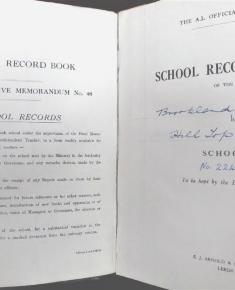 1952 logbook, inside cover