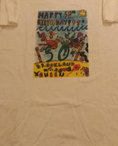 Golden Jubilee t-shirt (pupil's artwork) 2002