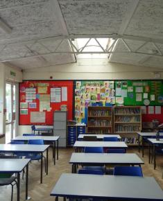 Junior school classroom with skylight