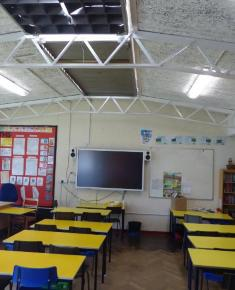 Classroom with ceiling detail