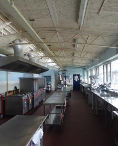 Kitchen looking towards Infant school