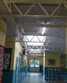 Corridor showing ceiling structure