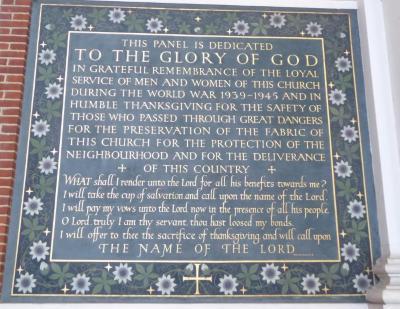 Free Church remembrance panel