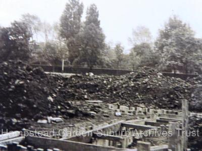 Air raid shelters and earthworks